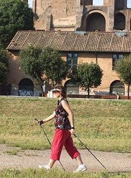 Nordic Walking the Circus Maximus_opt
