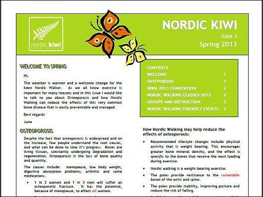 Nordic Walking Newsletter Spring 2013