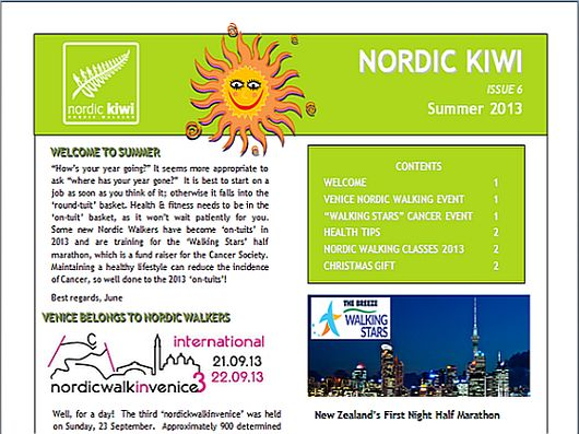 Nordic Walking Newsletter Summer 2013